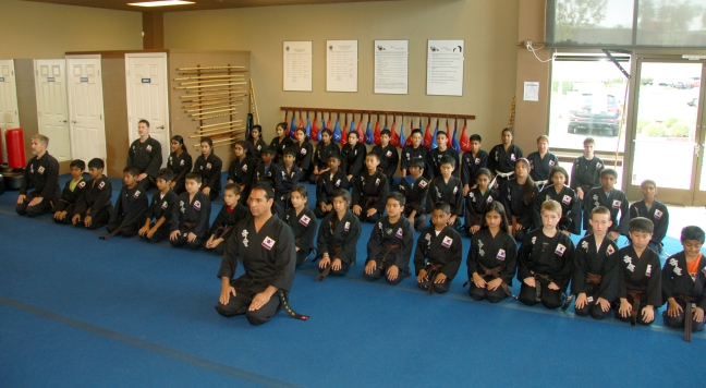 Master Saidi and his Kuk Sool Won students at the dojang in Dublin, California